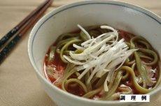 温かいトマトスープに入れて、コクを出すのに豆乳を少し回し入れてみても美味しいです。
